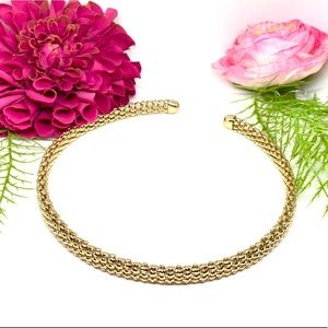 VINTAGE STYLE⚜️Golden Omega Mesh Choker Necklace